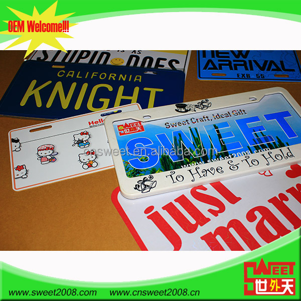 china goods wholesale european license plate holder