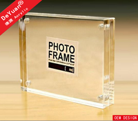 Transparent magnetic acrylic photo picture frames