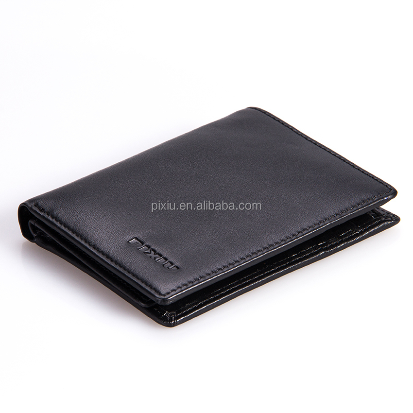 Gold Supplier Excellect Quality Real Foldable Leather Wallet with Custom Logo