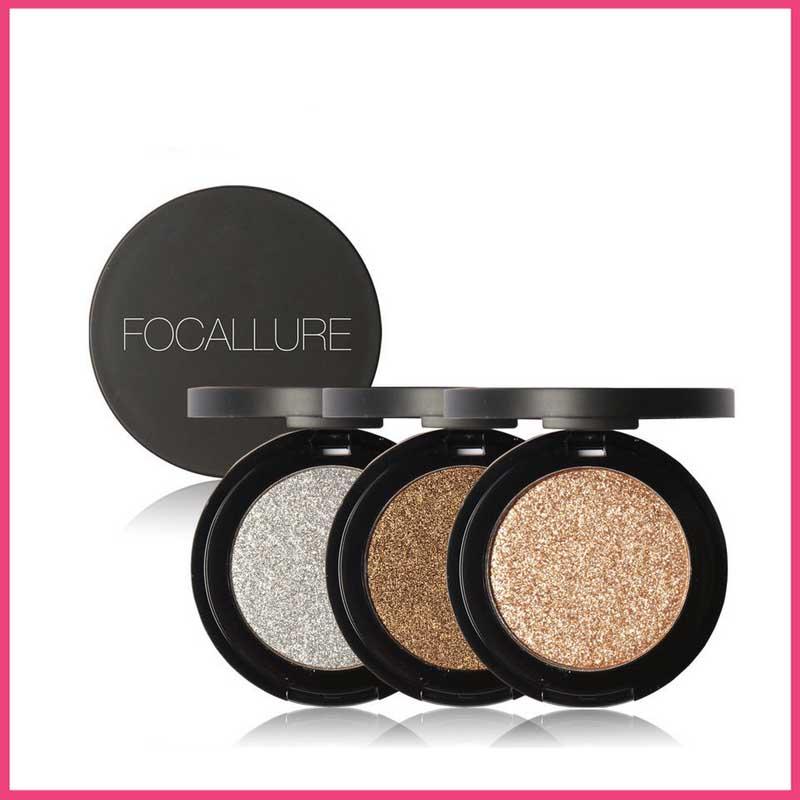 8 Colors Glitter Eyes Pigment Single Waterproof Eyeshadow Palette Minerals Makeup