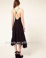 v neck open back prom dress