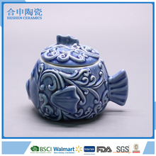 High quality ceramic fish cookie jar wholesale