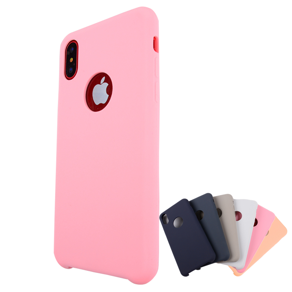 Soft Microfiber Cloth Lining Cushion Liquid Silicone Gel Rubber Smartphone Cell Phone Case For Apple Iphone X