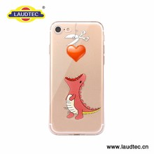 Ultra Slim Tpu Print Transparent Cell Phone Case for Iphone 7