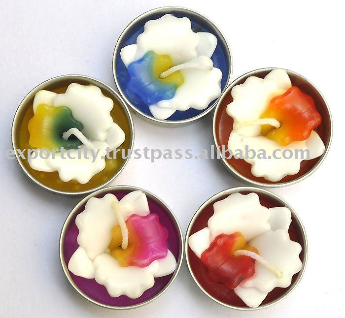Tea light, tealigfht, T-Light cattleya orchid candle