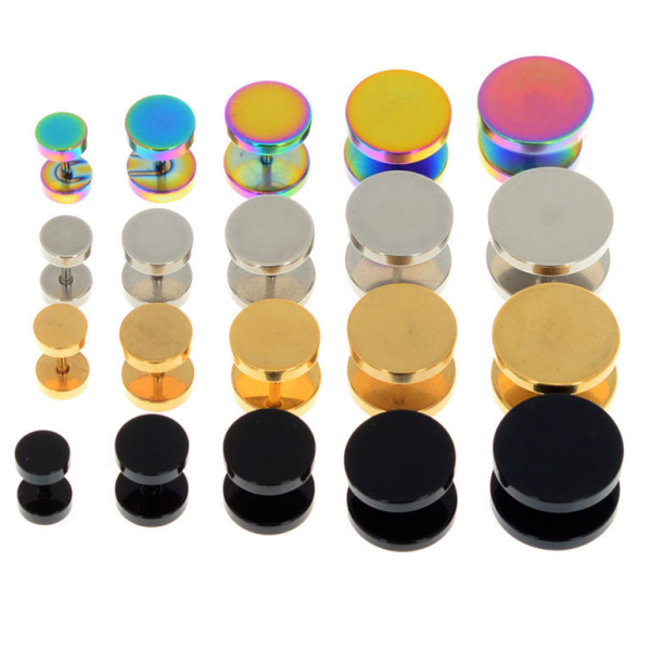Hot fake stainless steel plugs ear piercing jewelry wholesale