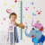 Hot cartoon animal Elephant height measurement wall stickers decal art pvc growth chart wall sticker