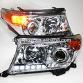 2008-2013 year Land Cruiser LC200 FJ200 LED Head Lamp Chrome housing