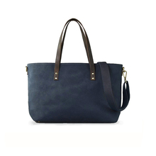1DP0452 2017 New Hot Selling Fashion Navy Blue Canvas Tote Handbag Fashion Adult Mummy Wholesale Baby Diaper Bag