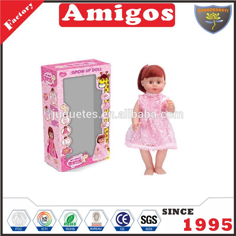18 inch battery operate doll with growing taller,sucking,crying,smile,sound