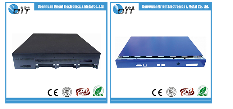 OEM Customized Electronic enclosure Telecom Network Metal Enclosure 1.2mm thickness 1u server chassis