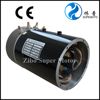 dc motor for golf car with axle