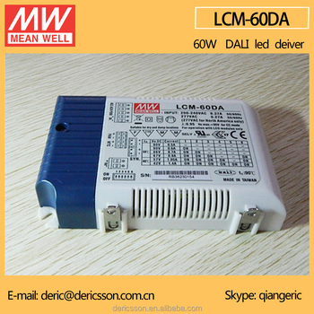 Mean Well Various Output Currents 60W 500mA Dali Dimming LED Driver UL CE CB LCM-60DA