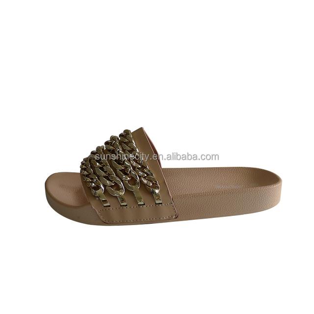 Women Custom Logo Slide Sandal