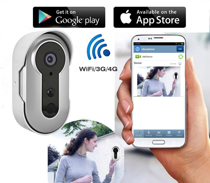 2017 Door Bell Battery-Powered Wifi Doorbell Camera