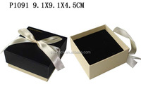 P1091 Top and Bottom shape Cardboard Cardboard Paper Gift Box For Jewelry With Ribbon