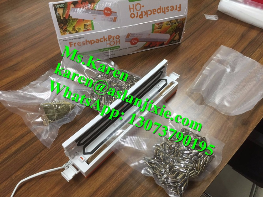 Household vacuum packing heat sealing machine / vacuum heat sealer machine / home vacuum sealing machine