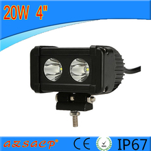 4inch single row 2pcs*10w 20w led light bar with factory price