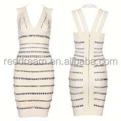 latest dress designs bandage dress boob tube top wedding dress
