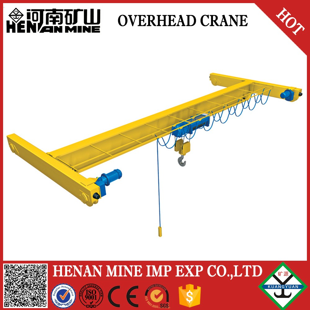 2016 china widely used electric hoist eot traveling single girder bridge cranes 5 ton for sale
