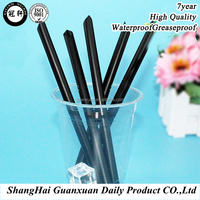 Black color food grade individual package drink straw for sale
