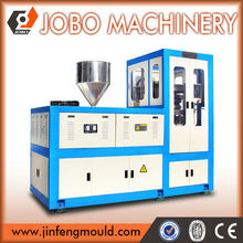 Rotating plastic cap compression molding machine for making lids