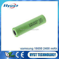 Promotions Wholesale Samsung ICR18650-24F Battery 3.7V 2400mAh High Drain Rechargeable Batteries In Stock