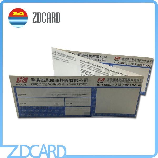 High Quality RFID Paper Entrance Airport Ticket Wholesale