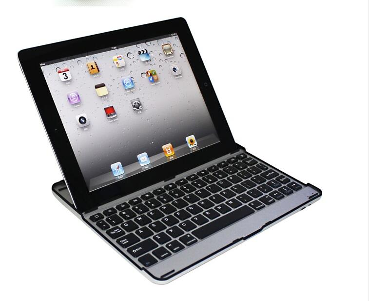 wholesale for ipad 4 wireless keyboard protable business aluminum+ABS bluetooth keyboard for ipad tablet keyboard