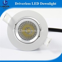 IP44 LED Down Light Samsung AC COB 6W Driverless 60 Degree Cutout 80mm Downlight LED