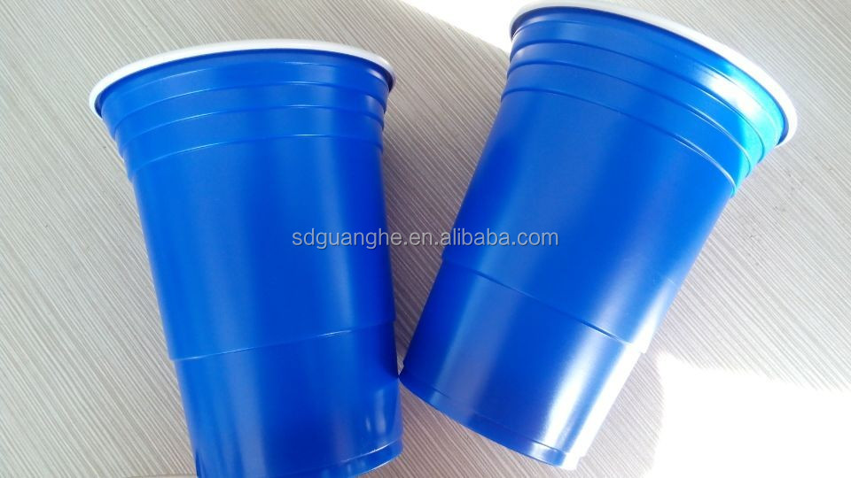 425ml PP/PS plastic cup/ disposable glass, for beer,juice