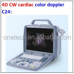 Diagnostic ultrasound machine 4D/color doppler/trolley/cart integrated cardiac equipment C21