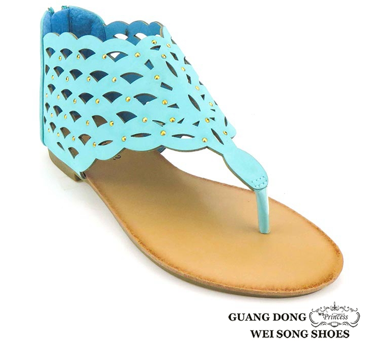 thong flat hollow out vamp women shoes summer sandals cheap girl lady fancy sandals