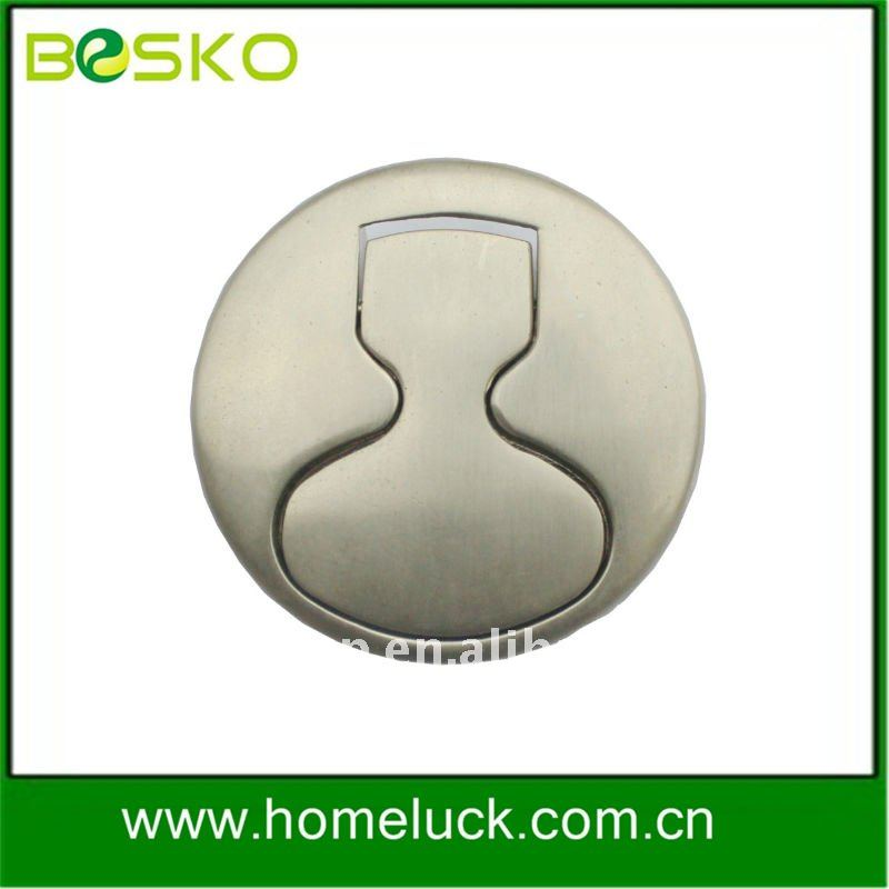 Flush door pull and recessed furniture handle and knob
