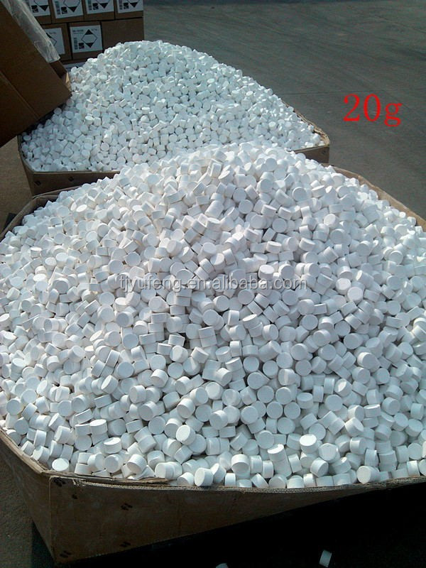 Chlorine Tablets Wholesale Calcium Hypochlorite 65%,70% in sodium process
