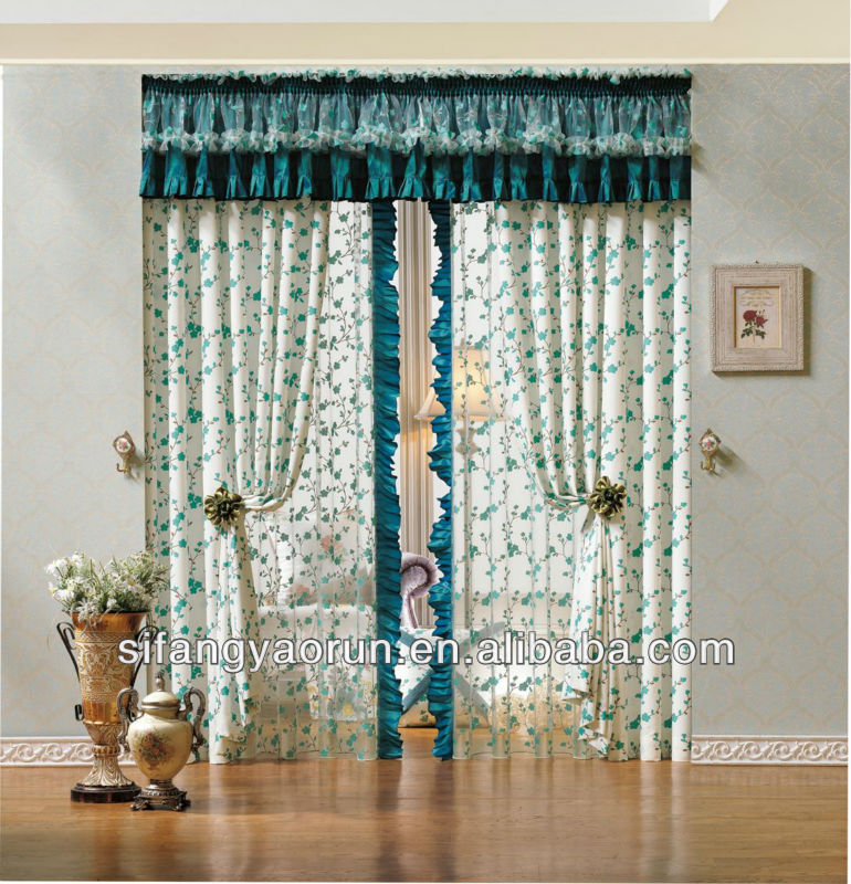 2013 fancy new design window fabric curtain.
