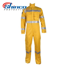 Shinco Hi Vis Orange FR Boiler Suit With Reflective Tape Safety Workwear