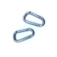 Durable full flat aluminum alloy mountaineering carabiner buckle outdoor spring hook