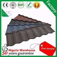 Building material corrugated roofing materials stone coated metal roof tile hot sale in Philippines