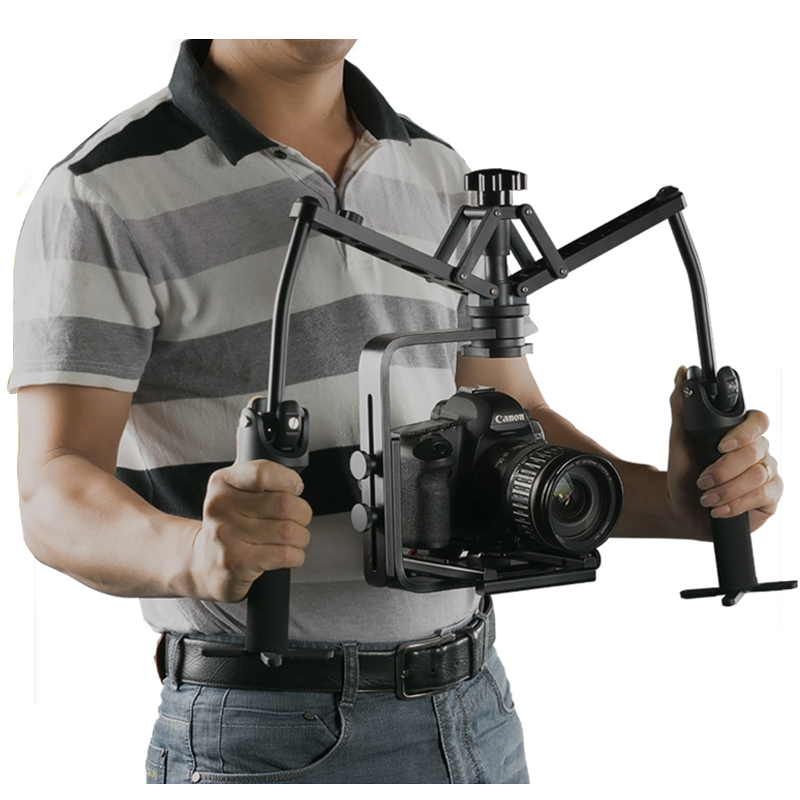 best stability aluminum dual axis gyro video stabilizer camera for DSLR cameras gimbal handheld