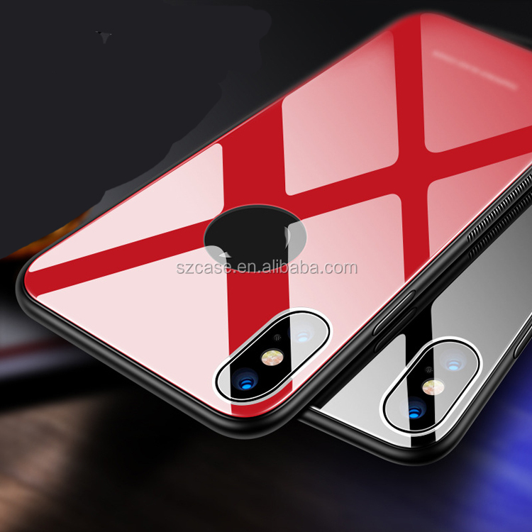Free shipping really tempered glass soft tpu mobile phone <strong>case</strong> for iphone x shockproof cover