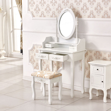 White home bedroom furniture 4 drawer dresser with mirror