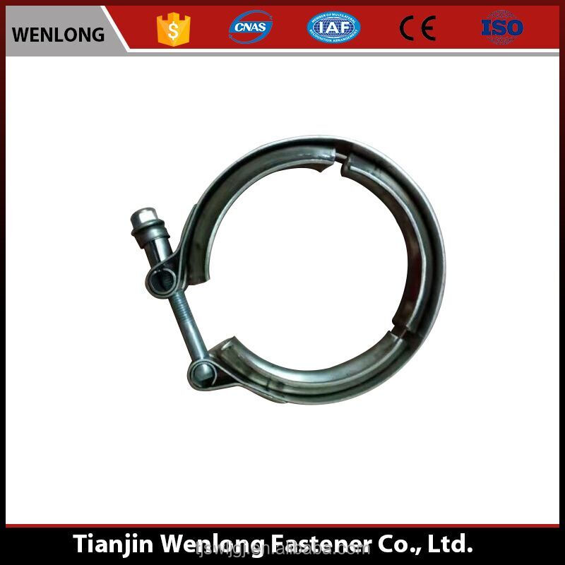 Best quality best price carbon steel V-groove hose clamp