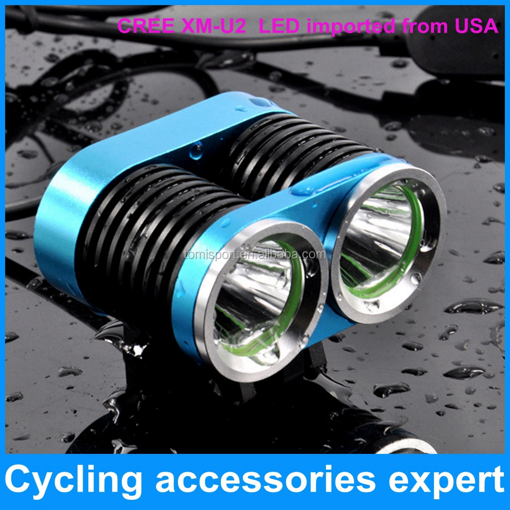 2000 lumen led CREE XM-<strong>U2</strong> x2 T6 led bicycle bike head lamp