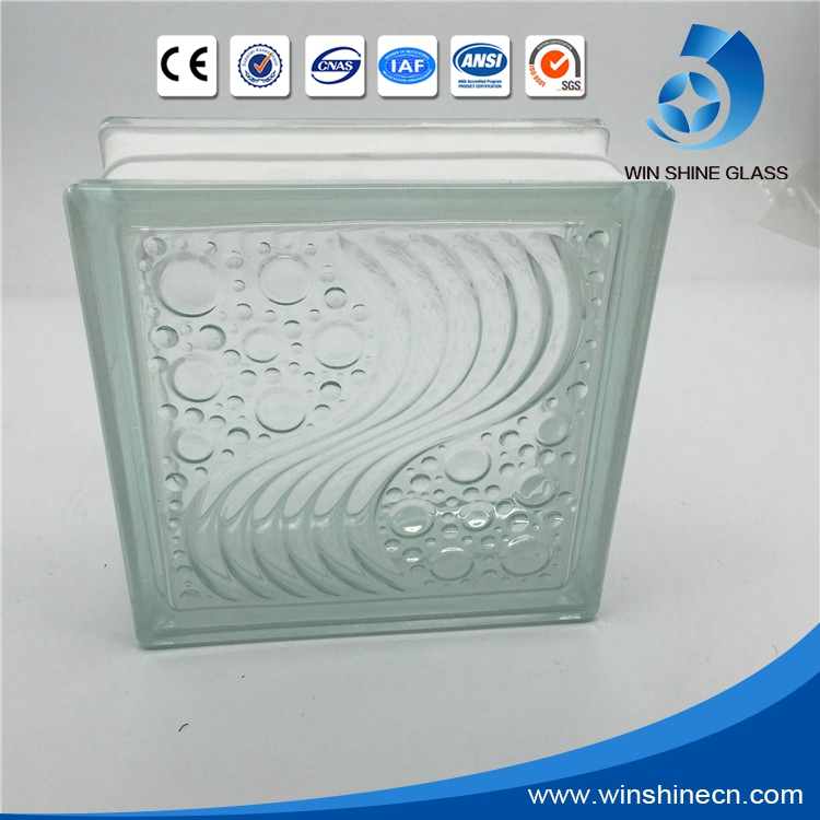 Wholesale glass blocks price, colored and clear glass block /brick with different design
