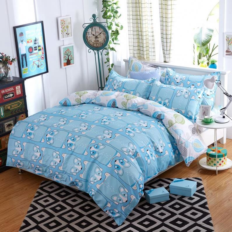 Hot Selling 2017 hot sale indian cotton bed sheets wholesale
