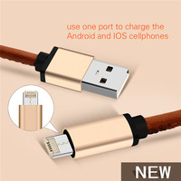 High quality colorful double ended usb cable for HTC Xiaomi 4 Universal Android Phone Tablets