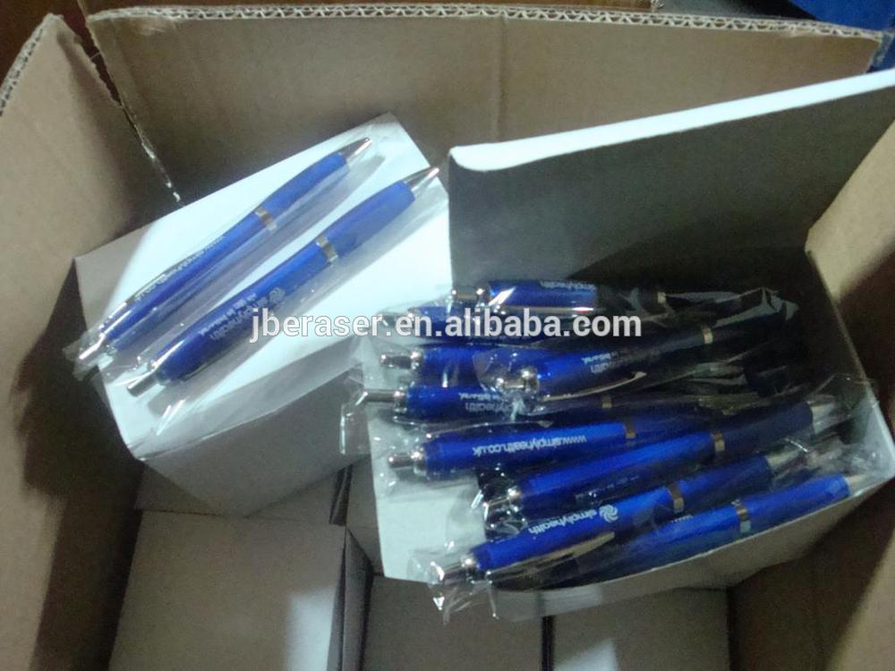 Cheap Wholesale Curvy transparent Promotional Ball Pen