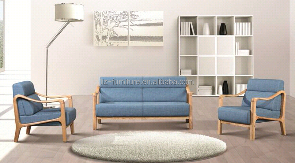2016 new modern sofa ,leather sofa with wood arms 7535
