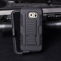 High Quality Belt Clip PC+Silicone Combo Armor Case for Samsung Galaxy S7 S6 S5 S4 Top Selling Case in Alibaba
